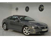 2007 BMW 6 SERIES 650 4.8 auto i+HEADS UP DISPLAY+SATNAV+PANORAMIC ROOF+FBMWSH+