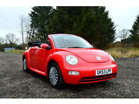 2004 VOLKSWAGEN BEETLE CONVERTIBLE 1.6 MANUAL 4 SEATER CABRIOLET RED PX SWAP