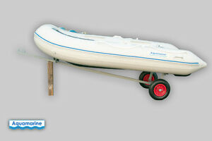 Boat Launching Dolly with 15'' Wheels Galvanized Hand trailer