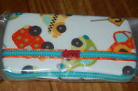 Fabric covered wipes cases