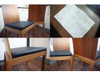 NEW Habitat Catania Walnut Dining Chairs (Set of 2)