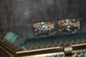 Vintage Engagement Ring Set