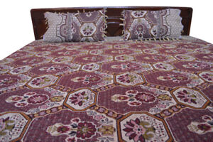 Three Prints Embroidery Texture Bed Sheet