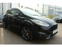 2016 BLACK FORD FIESTA 1.6 ECOBOOST 180 ST-2 PETROL 3DR CAR FINANCE FR £169 PCM