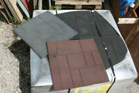 Recycled Rubber Patio Pavers, Tiles and Sidewalk/Pathway Mats