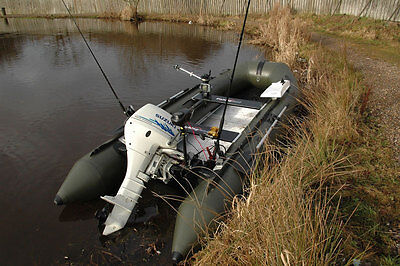 BISON MARINE OLIVE GREEN INFLATABLE FISHING SPORTS AIR RIB BOAT 14ft