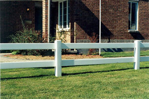 Ranch Rail Fencing - White