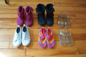 Toddler girl shoes, sandals, boots, watershoes