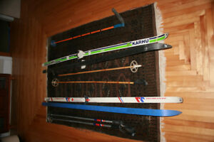Karhu and Jarvinsen cross country skis and sticks