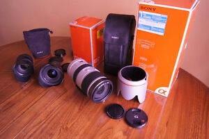 sony lenses half price