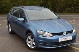 2016 Volkswagen Golf Estate Match Edition 1.4 TSI 125 PS 7-speed DSG Petrol blue