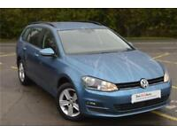 2016 Volkswagen Golf Estate Match Edition 1.4 TSI 125 PS 7-speed DSG Petrol blue