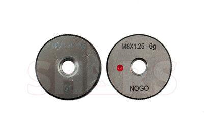 Shars M8 X 1.25 Go No-go Thread Ring Gage 2pcs Set New