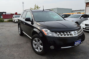 2007 Nissan Murano SL AWD Accident Free, 3 Years Warranty
