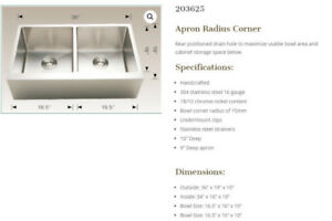 sale  high brand stainless steel apron sink
