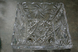 Crystal Pinwheel Bowl and Cheeseboard with Knife