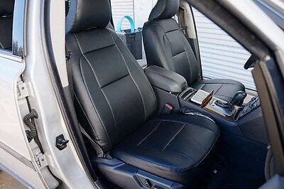 VOLVO XC-90 2003-2010 IGGEE S.LEATHER CUSTOM FIT SEAT COVER 13 COLORS AVAILABLE