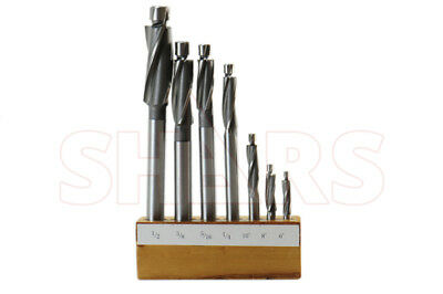 SHARS TOOLS #6 8 10 1/4-1/2 7pcs Cobalt Counterbore Set A