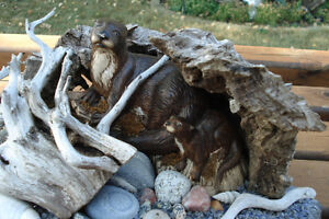 3-D Hand Crafted Table Sculpture - Otters Along Rivers Edge Kingston Kingston Area image 4
