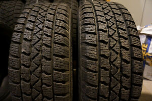PAIR 215.60.16 Arctic Claw Winter on 5x114.3, LIKE NEW, $120!!! London Ontario image 1