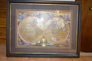 Handcrafted with Real Gold Leaf, World Map