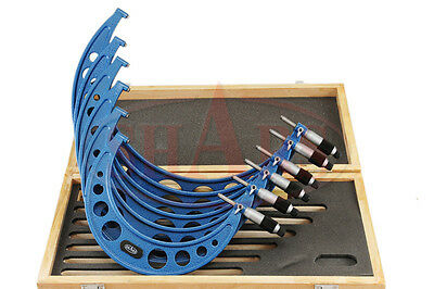 6-12 6 Pcs Micrometer Set .0001 Carbide Tipped With Standards
