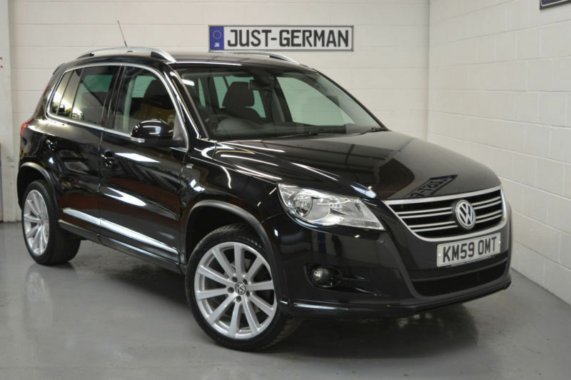 2009 59 volkswagen tiguan 2 0 tdi 170 4motion r line 4x4 diesel black wigan in wigan. Black Bedroom Furniture Sets. Home Design Ideas