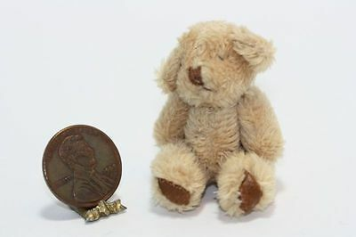 Dollhouse Miniature - Super Soft Brown Shaggy Teddy Bear