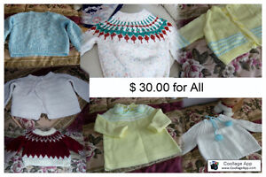 7 new Baby sweaters