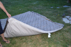 "Tent Trailer -Mattress cover depth 4 ""  L 77""  by  W 70"""