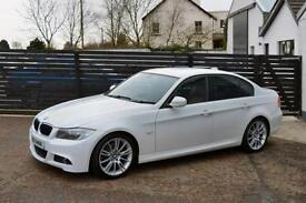 2009 BMW E90 LCI 320D M SPORT WHITE RED LEATHER FSH 2 KEYS