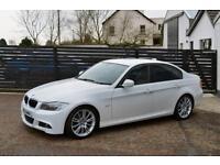 2009 BMW E90 LCI 320D M SPORT WHITE RED LEATHER FSH 2 KEYS