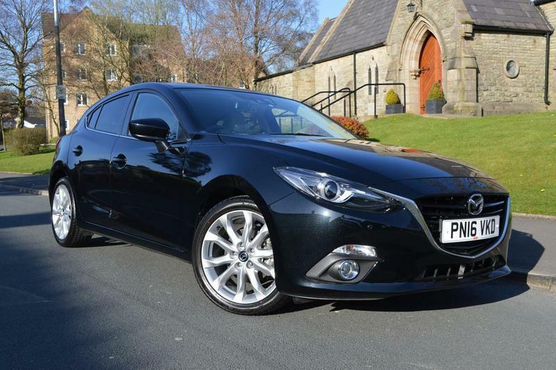 mazda 3 2 0 sport nav 5 door black 2016 in blackburn lancashire gumtree. Black Bedroom Furniture Sets. Home Design Ideas