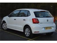 2017 Volkswagen Polo S A/C 1.0 60PS 5-speed Manual 5 Door Petrol white Manual