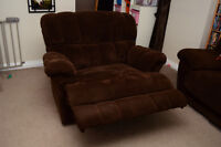 Lay Z Boy Microfibre Chair-and-a-Half Recliner and Sofa