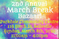 2nd Annual March Break Bazaar!
