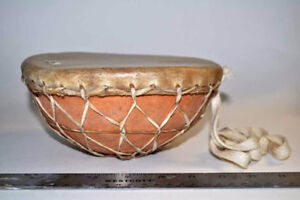 Wood and Leather Hand Drum