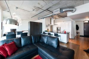 Loft spacieux et moderne au Centre-Ville - Tout meublé, 1er oct