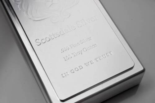 100 oz Scottsdale Stacker Silver Bar .999 Silver Bullion #A209