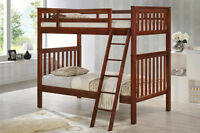 Bunk Bed - Hardwood- Twin/Twin-Comox -Cherry-By Bunk Beds Canada
