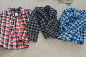 3 collared shirts