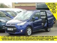 2017 FORD TRANSIT CONNECT 200 LIMITED L1 SWB VAN IN DEEP IMPACT BLUE WITH AIR CO