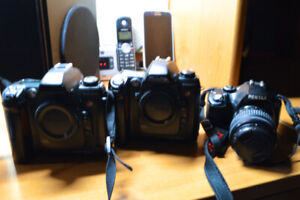 Older DSLR's 2 fuji s2 pro and one Pentax k-m