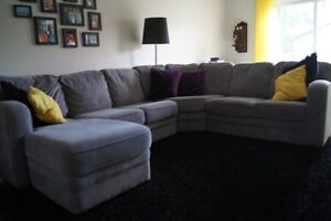 Sectional with chaise lounge attached