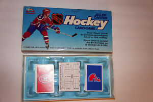 HOCKEY NHL CARD GAME Montreal Canadiens / Quebec Nordiques 1985