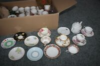 $4 odds and ends tea cups and saucers! Deals for buying bulk!