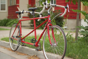 Beautiful Red Trek Double Track Tandem (59cm + 54cm)