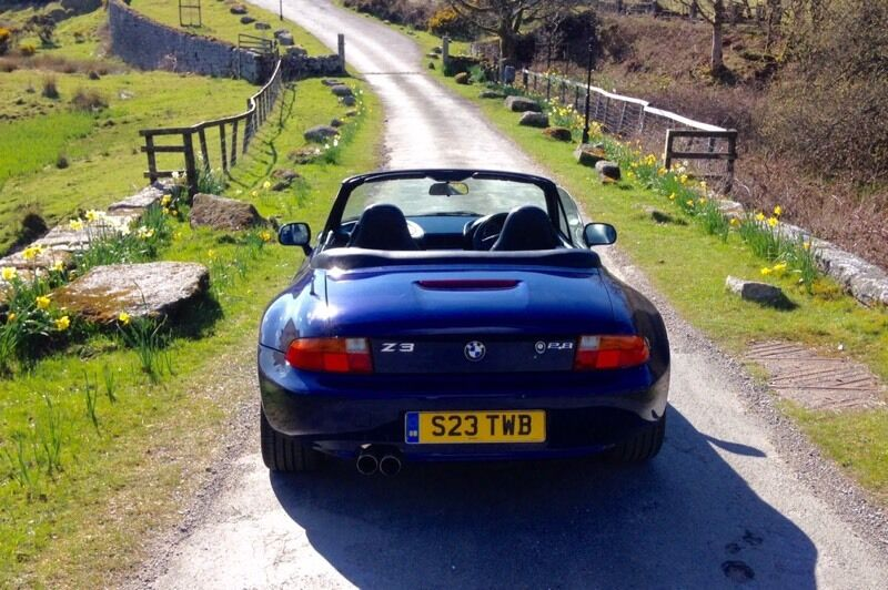 bmw z3 roadster 2 8 manual desirable wide body version in plymouth devon gumtree. Black Bedroom Furniture Sets. Home Design Ideas