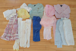 Lot of girl clothing 6-12 months