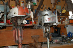Six Old Outboard Motors
